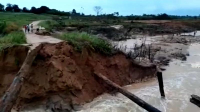 Rompimento de Barragem em Rondônia e deixa comunidades isoladas