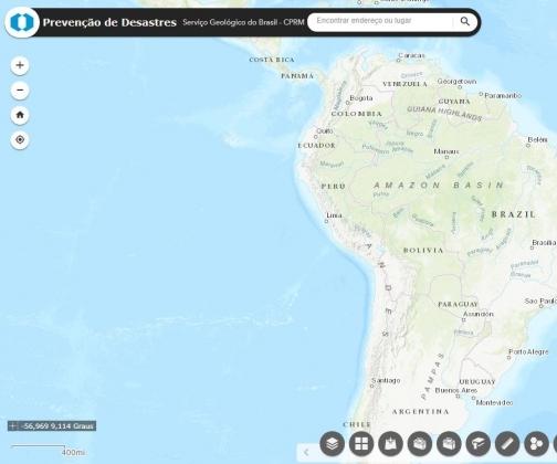 CPRM cria mapa online de áreas com riscos